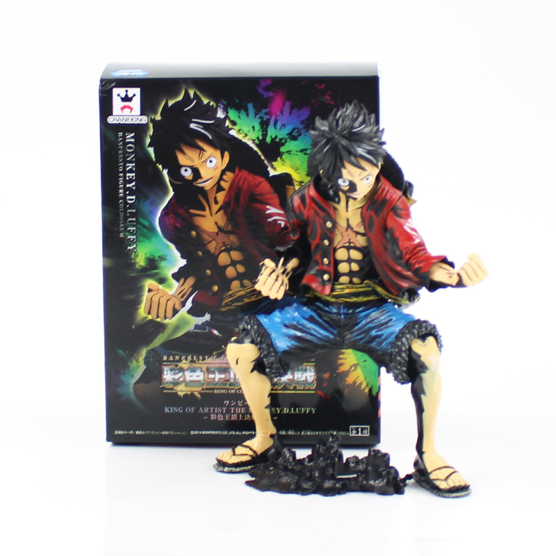 Action & Toy Figures Anime Action Figure One Piece King Of Artist The Monkey.d.luffy Collectible Model Toy
