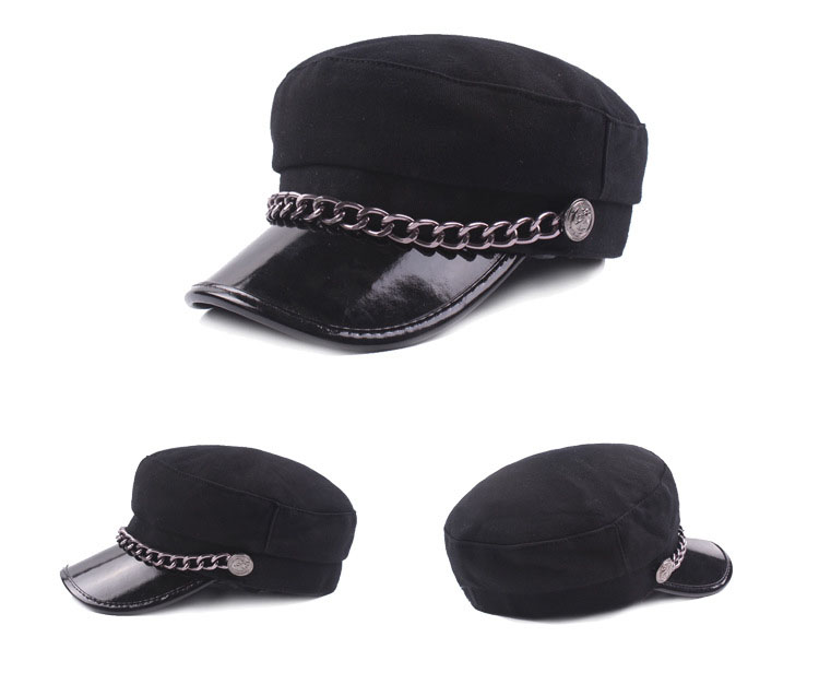 fb1789b9c77  AETRENDS  Woolen Hats for Women Baseball Caps Fashion Flat Hat Black Full  Cap with Rings Youth Casquette Femme Sport Z 6220-in Baseball Caps from  Apparel ...