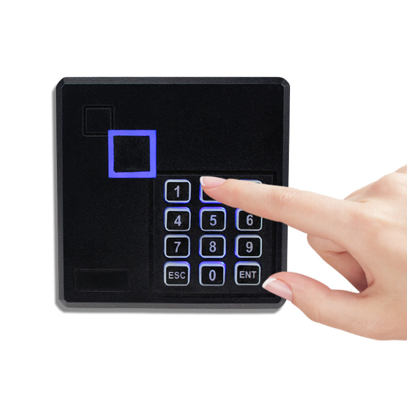 Elegant RFID ID Card Reader 125KHz /13.56MHz Proximity Smart Card Reader Lector With Keypad/ Without Keypad High quality high quality drawer locker mini size with id card reader