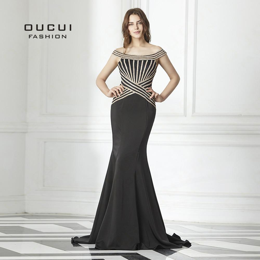 Boot-ausschnitt Meerjungfrau Schwül Off Schulter Sexy Lange Abend Party Kleid Luxus Strass Formale Prom Kleider Ol103102 Abendkleider