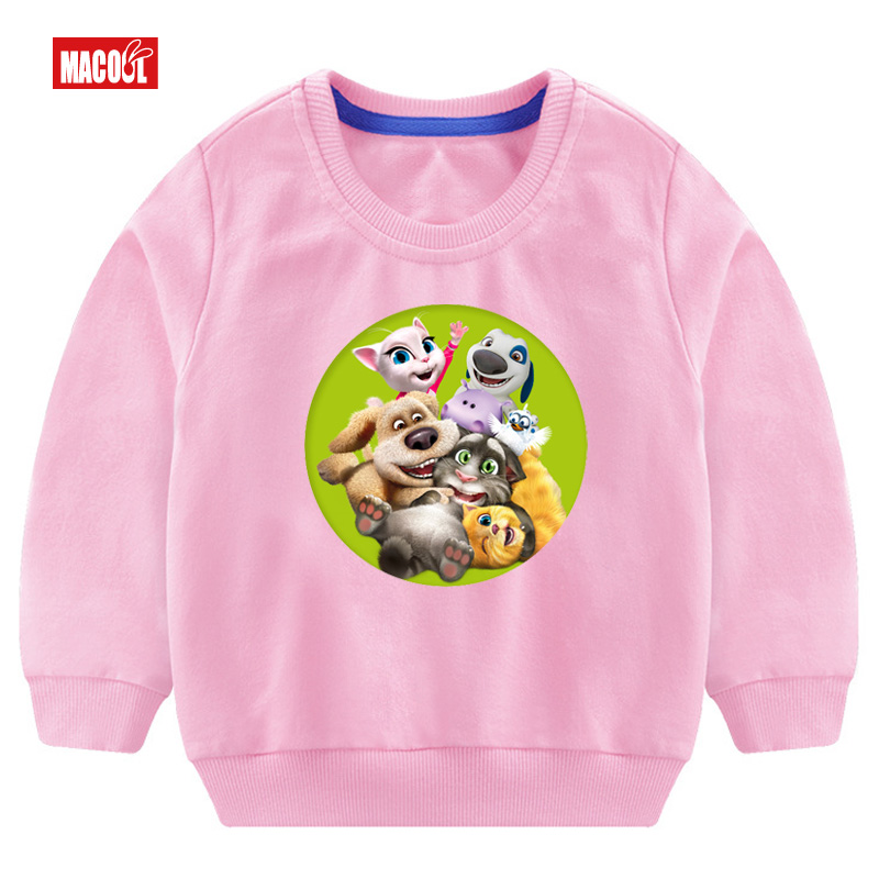 Girls Casual Autumn Cartoon Sweatshirt Long Sleeve 3T 8T Can Speak Cat Game Printed Hoodies Tracksuit Outerwear Sweatshirt 3 14y in Hoodies Sweatshirts from Mother Kids