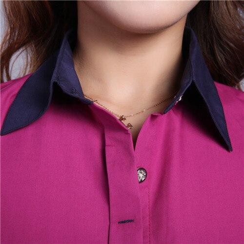 2017 новую рубашку женщины топы 6xl 7xl плюс размер твердых кнопку с длинным рукавом формальное туника повседневная верхней части кофточки blusas feminina # b39
