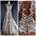 Платье La Belleza  белое/Черное  из полиэстера  с сеткой  тяжелой вышивкой  для свадебного платья  ширина 1 ярда 51 дюйма