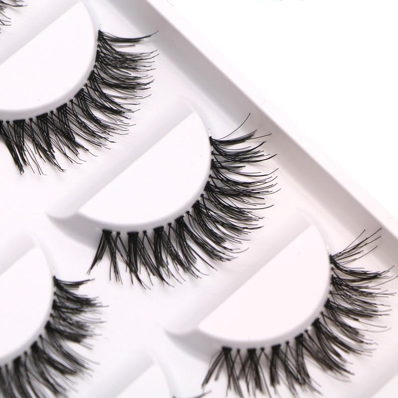 50pair efero False Eyelashes Natural Crisscross Fake Lashes For Building Strip Eyelashes Voluminous Thick Long Eyelash Extension