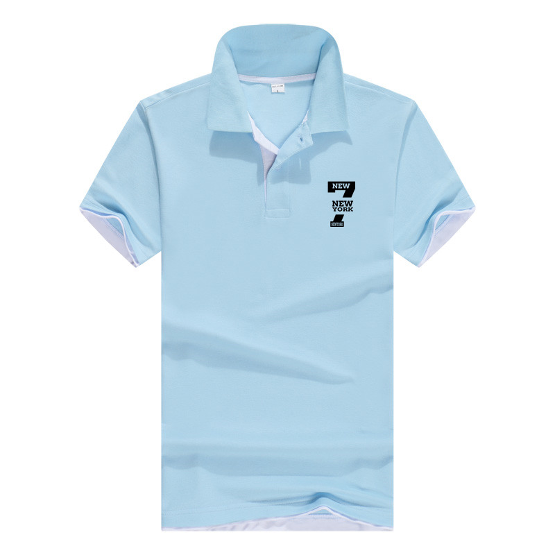 2019 Polo NEW YORK7  Brand Clothing Male Fashion Casual men Polo Shirts Solid Casual Polo Tee Shirt Tops High Quality Slim Fit