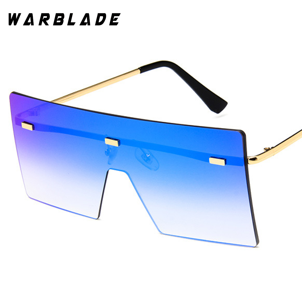 WarBLade böyük bir parça lens gözlük qadınlar kvadrat mavi - Geyim aksesuarları - Fotoqrafiya 4