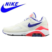 super popular 6f6c2 291a1 Nike Air Max 180 OG Men s and Women s Running Shoes White Red Shock  Absorption