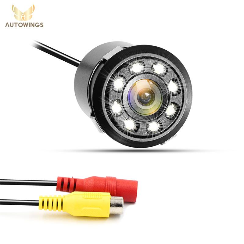 Prix pour 18.5mm Forage Trou De Voiture Parking Sauvegarde n ° Caméra Arrière 8 LED Night Vision 170 Degrés Mini Étanche Couleur CCD Image