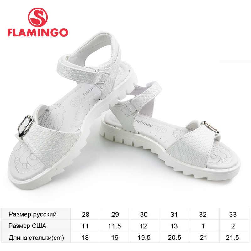 פלמינגו קיץ ילדי סנדלי וו & לולאה שטוח קמור עיצוב Chlid מזדמן נסיכת נעלי גודל 28-33 עבור בנות 91S-HL-1421
