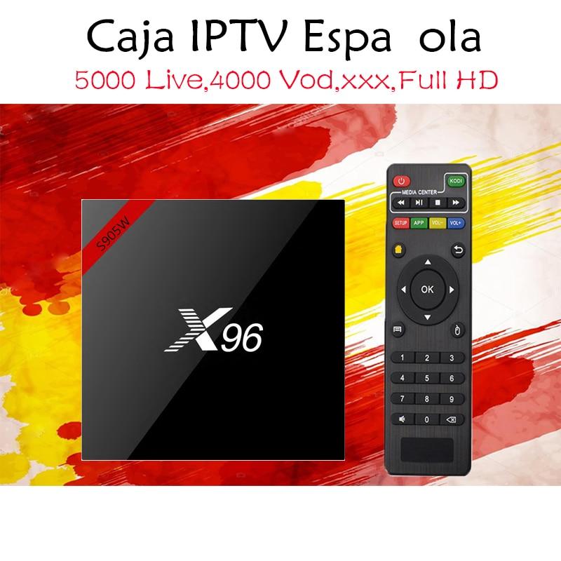 Spain Europe IPTV X96 Android 7.1 TV box with Spanish IPTV Subscription France Sweden M3U adult xxx Media Player Set top box ipremium tv bar a2 sound bar with built in iptv rceiver set top box media player
