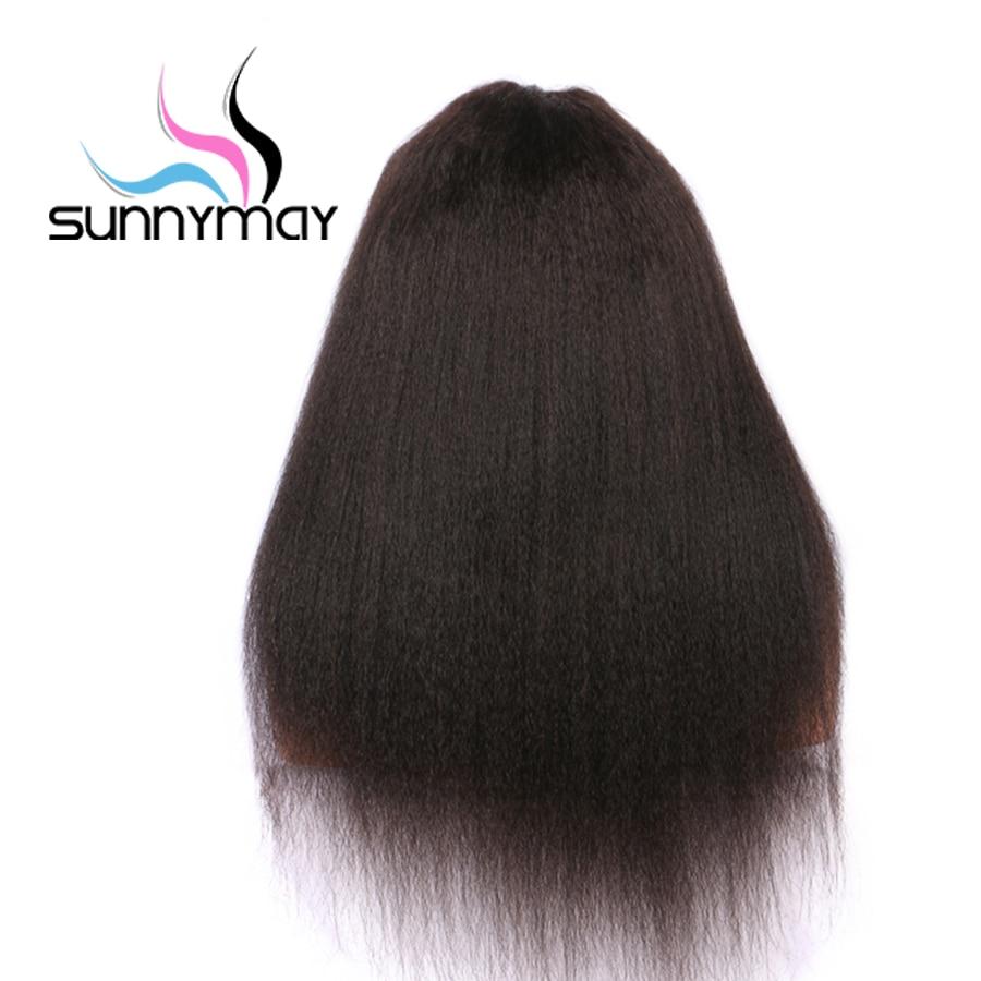 Sunnymay 13x4 կոպիտ ուղիղ կեղծամներ ՝ - Մարդու մազերը (սև) - Լուսանկար 4