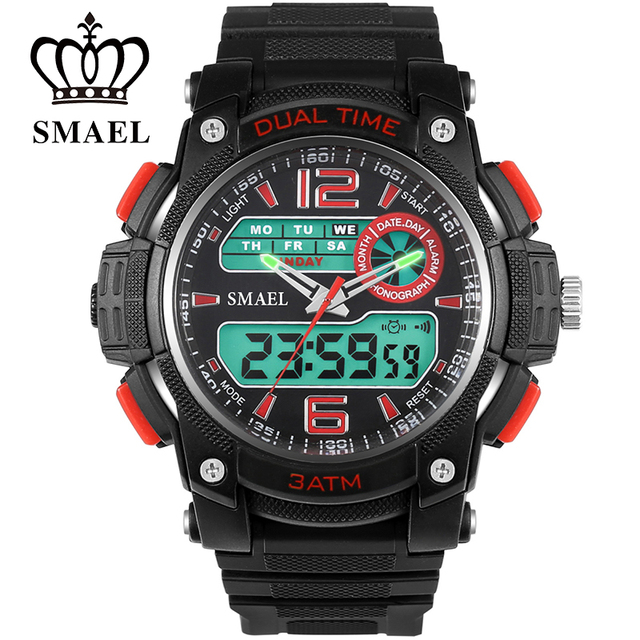 Outdoor Sport Watch Men Fashion Dual Display Wristwatches Analog Digital Military Watch Men Clock Men Gift relojes hombre WS1326