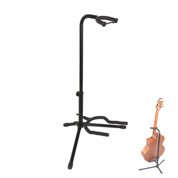 цена на High Quality Portable Aluminum Alloy Floor Guitar Stand with Stable Tripod Holder for Acoustic Electric Guitars Bass