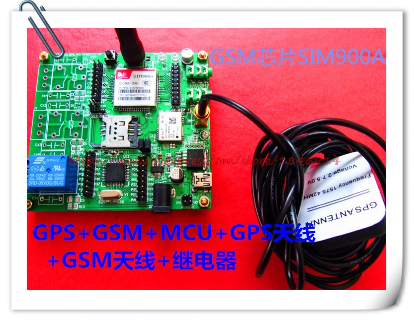Free Shipping     SIM900A  GSM+GPS+GPRS Positioning Navigation Module  GPRS Relay Control Alarm Gps/gsm