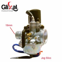 Glixal 1PE40QMB Jog 50cc 72cc 90cc 19mm Carburetor with Electric Choke for Minarelli 2 Stroke 1E40QMB Scooter Moped Carb PZ19J