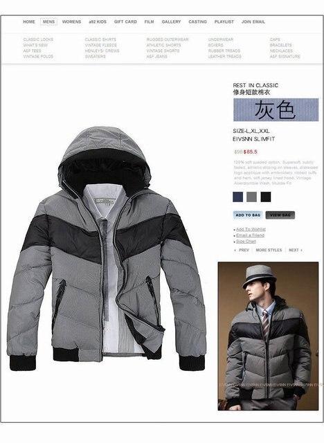 Free Shipping , Men's winter down overcoat, Outwear, Winter jacket, 3 colors, M-XXL, wholesale
