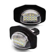 цена на Safego 2 pcs 3W LED License Plate Light 18 SMD 3014 Car Auto License Plate Lamp Waterproof For Toyota Alphard Auris ADE150