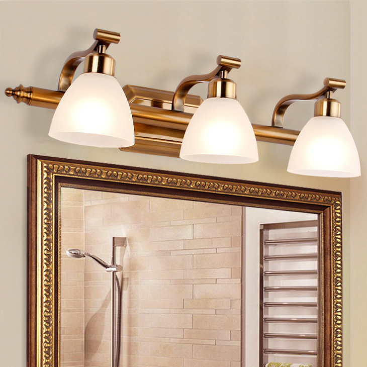 Luxury 7W 14W 21W 28W LED Wall Sconce Light America Style Mirror Front Lamp Fixture E14