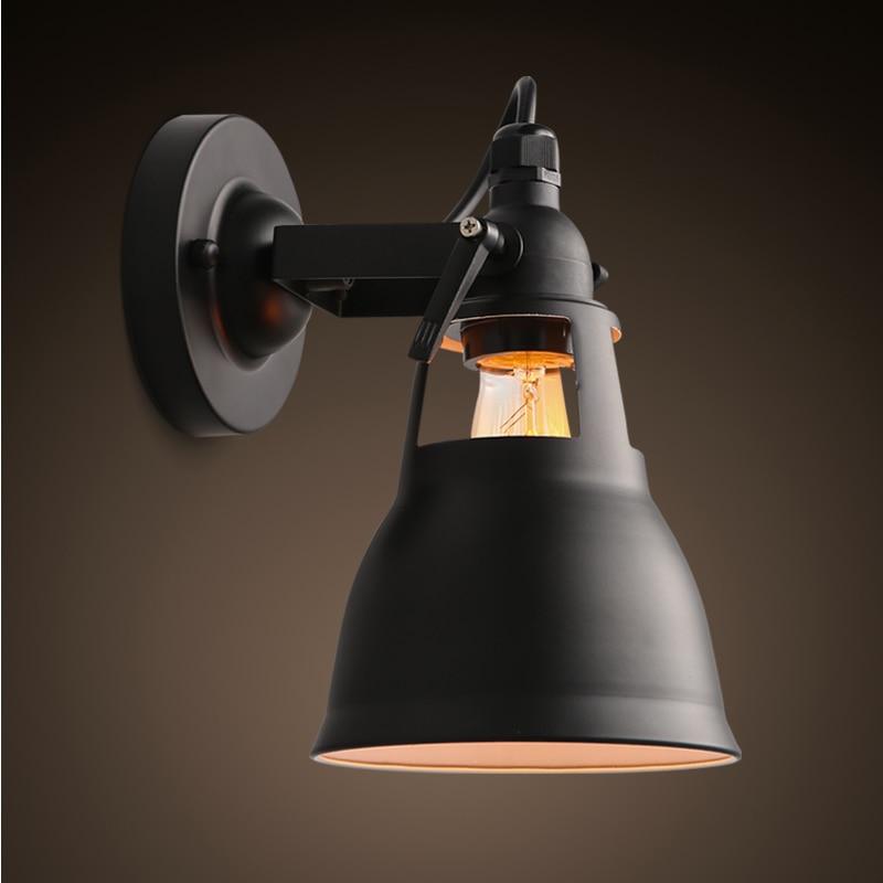Lampara techo Loft Américain Fer Escaliers LED Mur Lampe Rétro Industrielle Lampe Couloir De Chevet Simple Maison Déco Luminaires