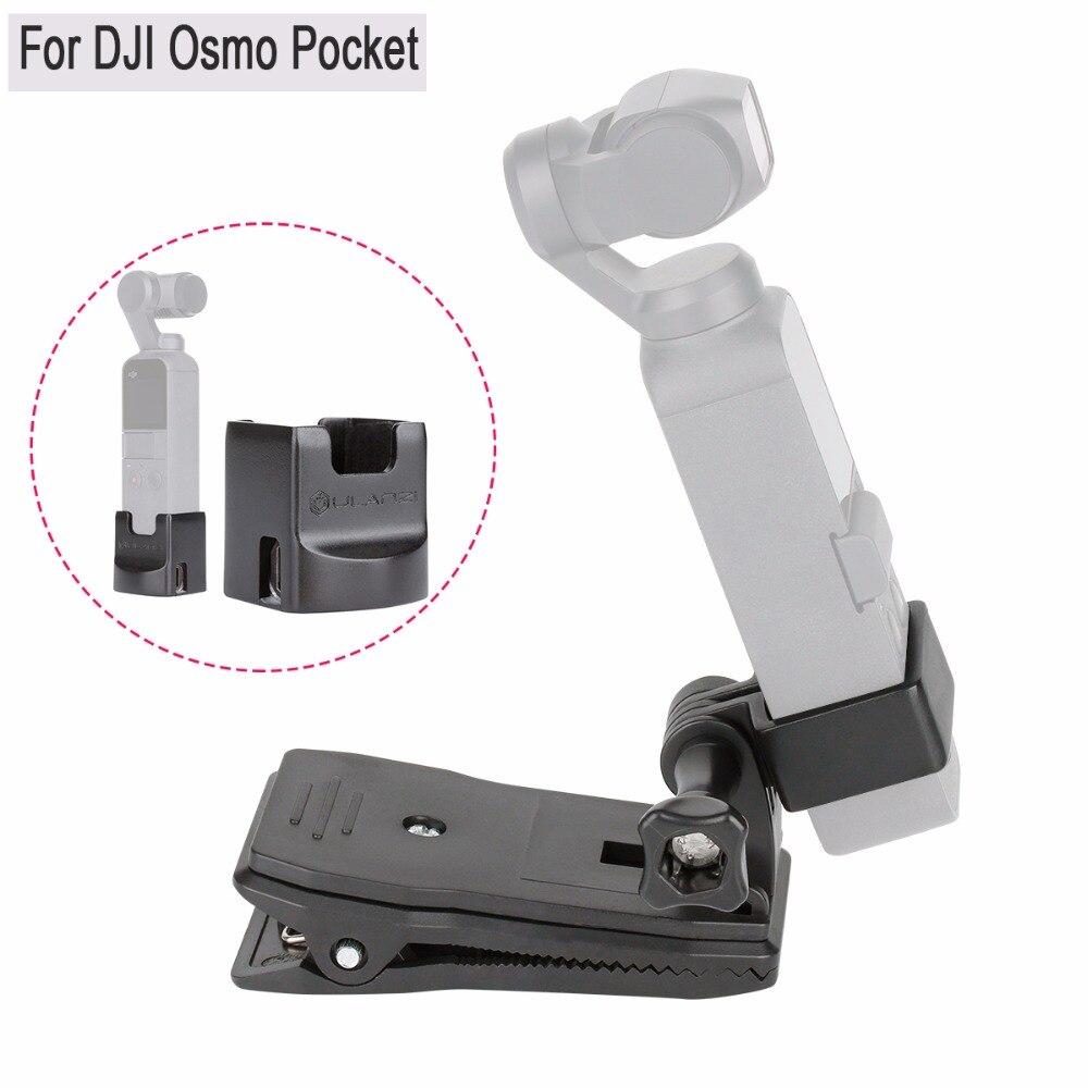 DJI Osmo bolsillo abrazadera Kit OP-3 extensión soporte fijo soporte w Base de carga montaje osmo bolsillo cardán Accesorios