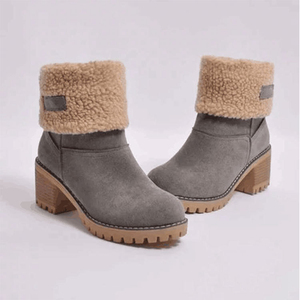 Image 5 - SWONCO Women Boots Ladies Winter Boots Plus Size 43 Thick Plush Christmas Green Boot 2019 Artificial Fur Inside 2 in 1 Snow Shoe