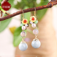 women's temperament, personality, all kinds of pure silver, earrings, pendants, retro Korean ear accessories.