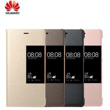 רשמי המקורי טלפון Huawei P9 P9 בתוספת תשובה חכמה חלון תצוגה סינטטי עור מפוצל עבור Huawei Ascend P9 P9 בתוספת