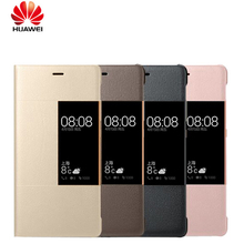 Official Original Phone Cases For Huawei P9 P9 plus Smart Answer Window View Synthetic PU Leather For Huawei Ascend P9 P9 plus