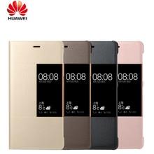 Officiel Original Téléphone etui téléphone Huawei P9 P9 plus Réponse Intelligente Fenêtre Vue Synthétique En Cuir PU Pour Huawei Ascend P9 P9 plus