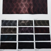Synthetic Leather, Printed Leather Fabric Vintage Leather for DIY Bows, Garment, Sofa P1723