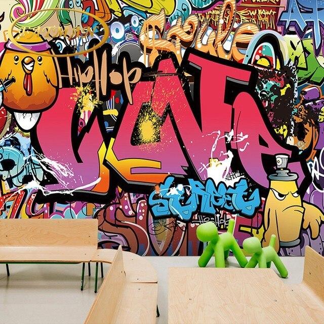 Custom D Photo Wallpaper Graffiti Wallpaper Brick Wall Style Wallpaper Mural Street Art Yoga Dance Room