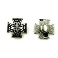 Hurtownie Antique Srebrny Tone Punk Krzyż Croix Spike Szpilki Miejsca Nity Buty Torba Rękodzieło Dokonywanie 15x15mm