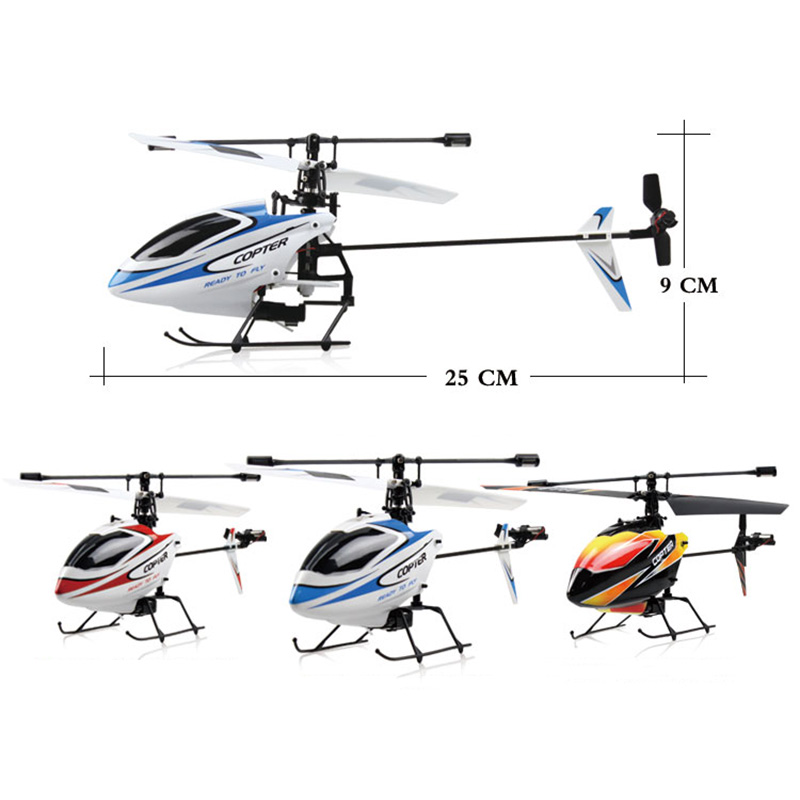 Wltoys V911 RC Helicopter 4CH 4 Channel RC Drone 6-Gyro Quadcopter Crash Resistant Remote Control Drone Toys Kids Boy Gift