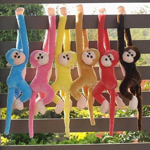 Cute Screech Monkey Plush Long Arm Animal Toy Doll Gibbons Gift
