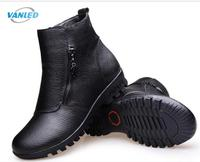 High Quality Cowhide Women Boots Winter Shoes Flat Snow Boots 2016 New Anti Skid Warm Fashion