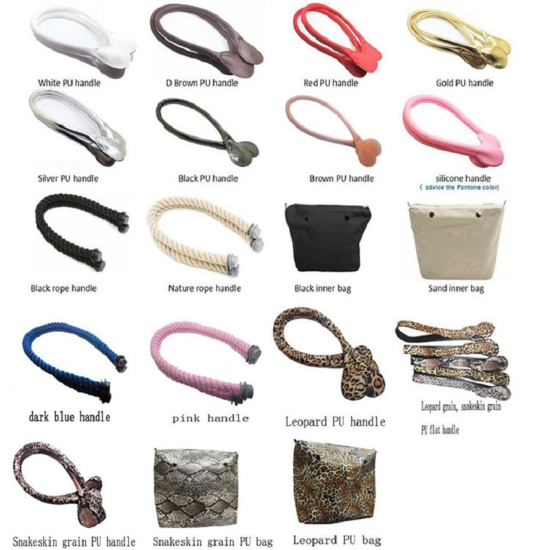 Multicolour Obag Handbags Accessories Insert Beach EVA Bag Rope Long Mini Messenger O Bag Handles Pu Strap Screw Cap Components