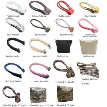 цена на Multicolour Obag handbags Accessories Insert Beach EVA Bag Rope Long Mini Messenger O Bag Handles Pu Strap Screw Cap Components
