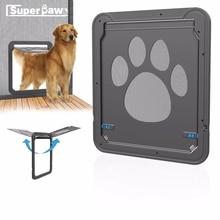 Multi-function Pet Magnetic Door Innovative Dog Gauze Window Screen Doors For Dogs Cats Locking Pets Supplies LSD01