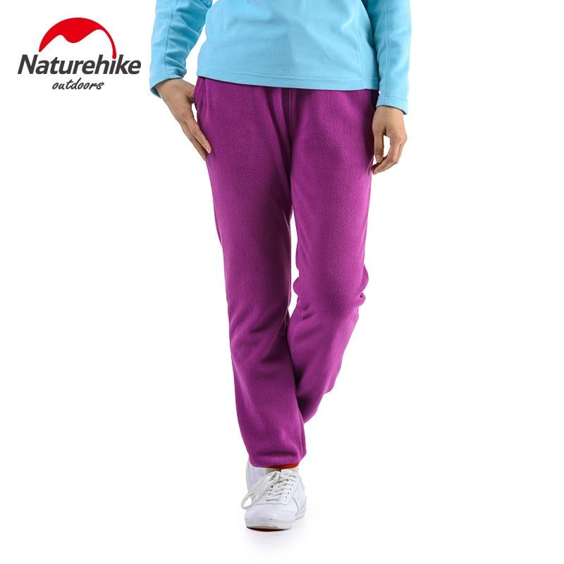 Naturehike dames fleece broek soft shell elastische trouers Vrouw - Kamperen en wandelen