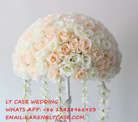 artificial flower wedding centerpiece,wedding table decoration flowers, Road lead flower balls,(only the flowers)