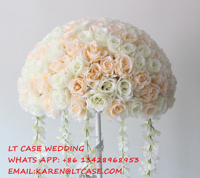 Artificial flower wedding centerpiecewedding table decoration artificial flower wedding centerpiecewedding table decoration flowers road lead flower balls junglespirit Gallery