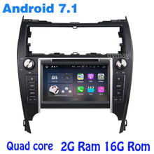 Android 7.1 Quad core gps dvd Del Coche para toyota Camry 2012-2014 Versión EE. UU. y Oriente medio con rds wifi 4G usb bluetooth espejo enlace