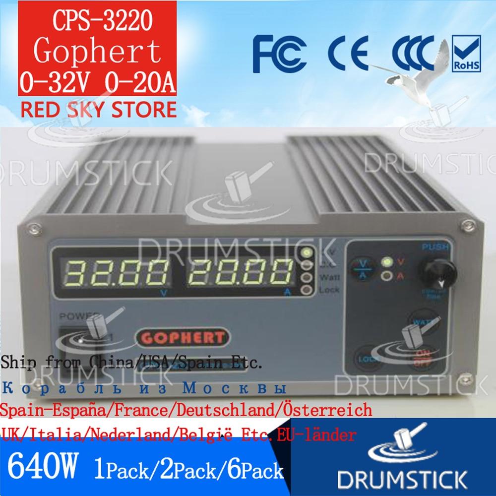 3 28 Gophert Mini Digital DC Power Supply CPS 3220 Adjustable 0 32V 0 20A
