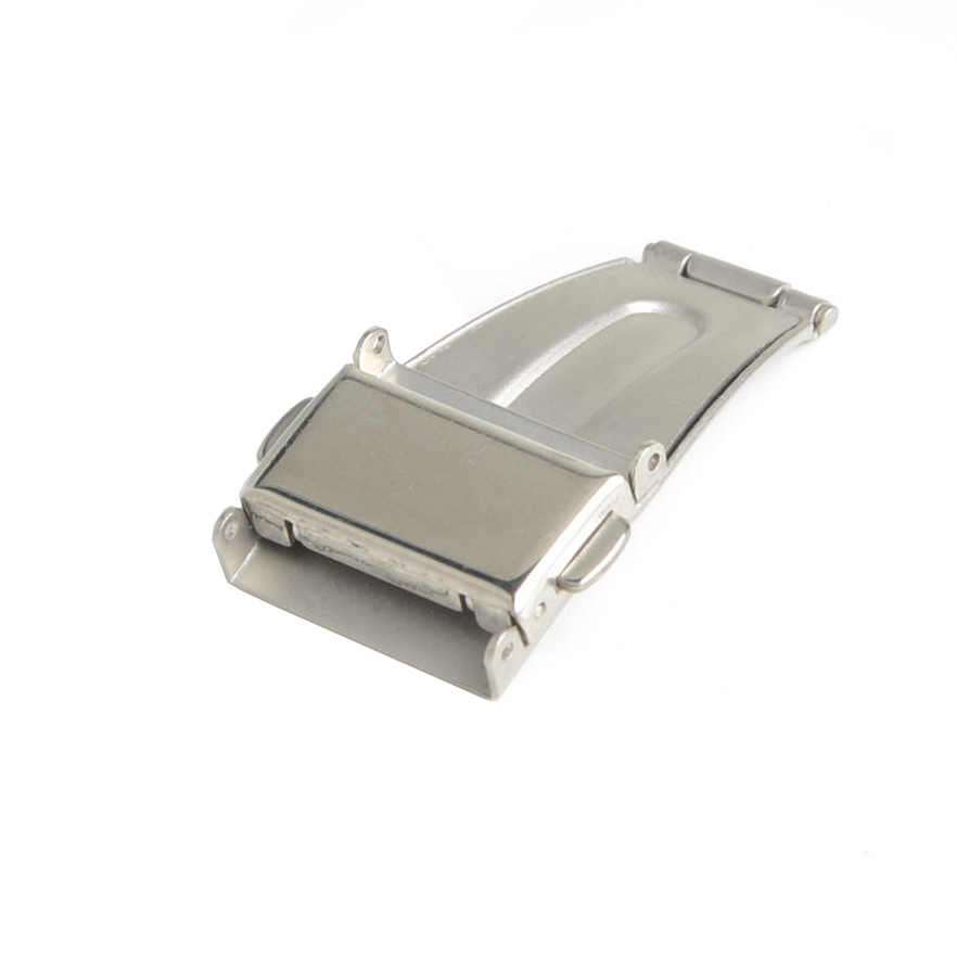 Stainless Steel Double Push Button Clasp Buckle for Watch Strap Band Deployment Fold Buckle 14mm,18mm,20mm,22mm,24mm