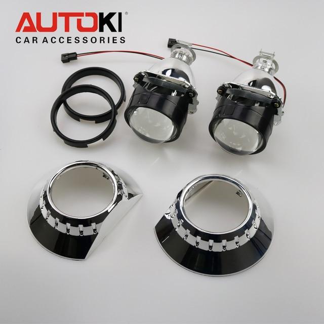 New Price Autoki Mini HID Bi-xenon Headlight Projector Lens With E46-R Extended Shrouds For BMW M3 E90/E91/E92/E93 ZKW E46 Use H1 Xenon