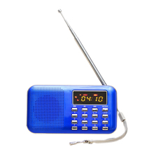 Mini radio fm altavoz digitale portatile usb sd micro tf mp3 music card lettore azul