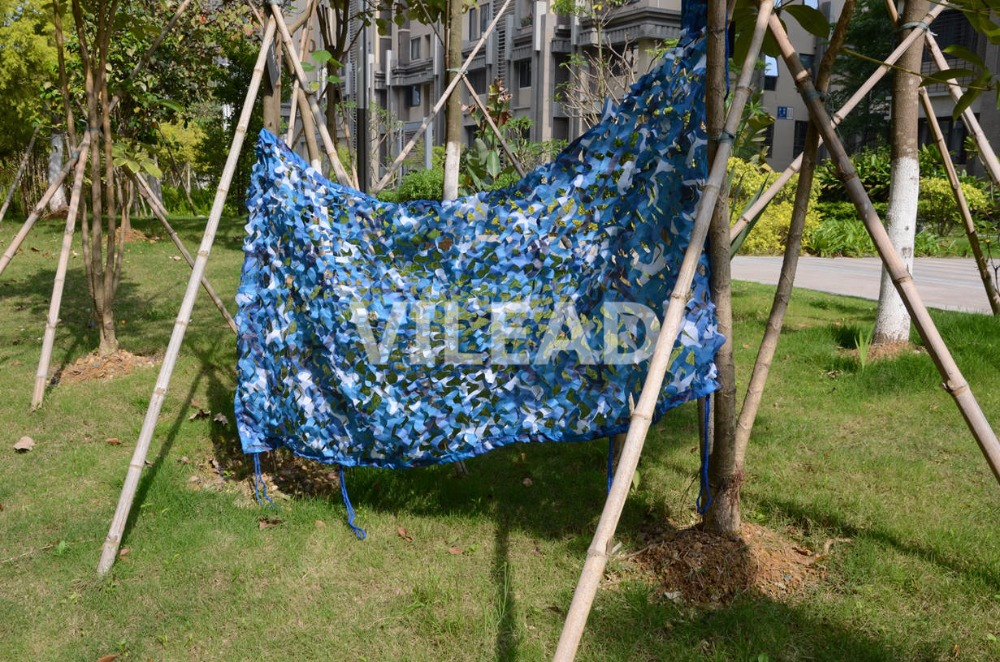 VILEAD 4M*4M Camo Netting Blue Camouflage Netting Camo Tarp Camouflage Army Netting for Balcony Tent Pergola Netting Sun Shelter велосипед pegasus leo alu 18 2016