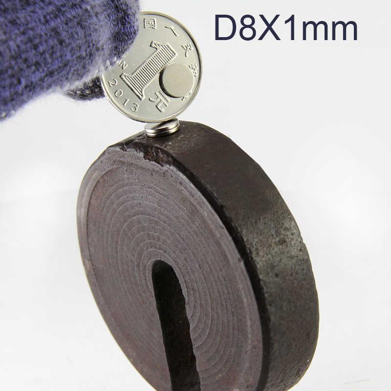 100 шт. магнит диаметр 8 мм толщина 1 5 сильные неодимовые магниты Размер 8x1 8x2 8x3 8x5