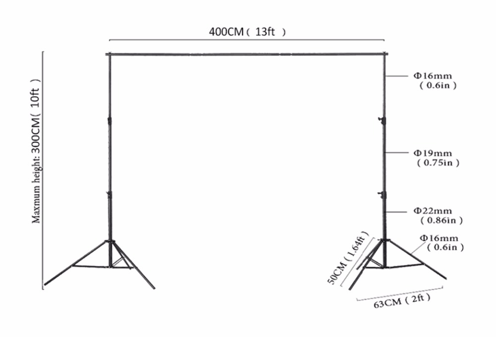 Kate Wedding Photographic Equipment Support 3x4m(10X12FT) Manual Quality Aluminum High Quality Frame Background Stand professional 7005 aluminum alloy tube clap long track ice blade 64hrc high quality dislocation skate shoes knife 1 1mm frame