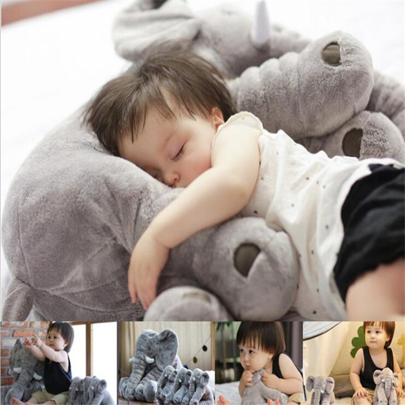 Soft Appease Baby Animal Elephant Pillow Children Sleeping Car Seat Cushion Kids Room Bedding Decoration Infant Plush Toys